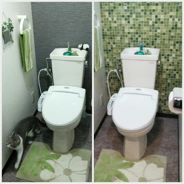 トイレの壁に貼って、プチ改造