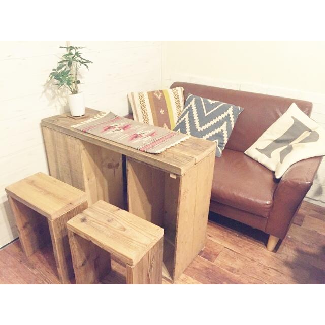 リンゴ箱で作るDIYテーブル(by runtenさん)
