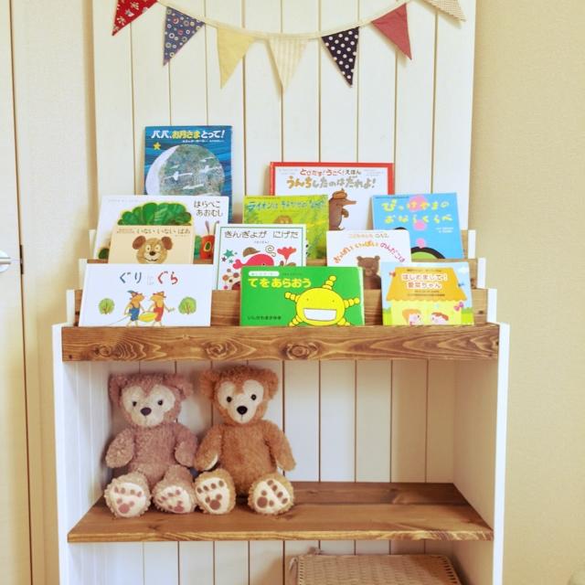 絵本棚+おもちゃ収納