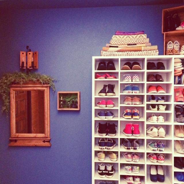 ニトリの本棚を靴収納に活用