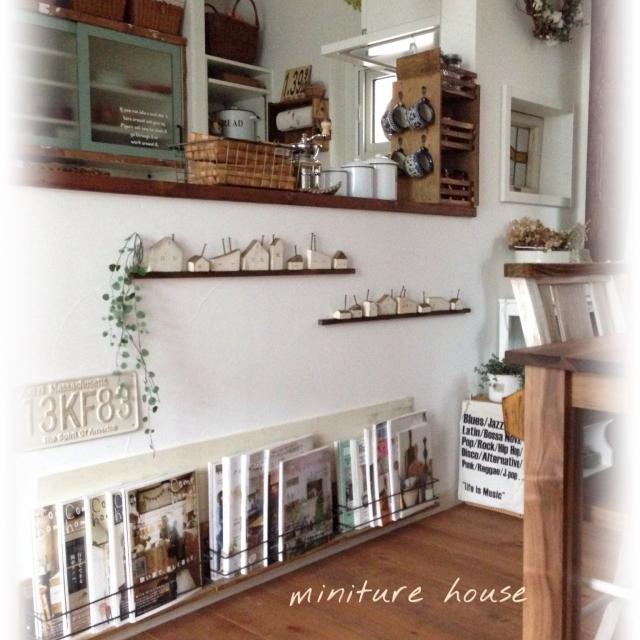 キッチンのカウンター下に本棚を作ろう