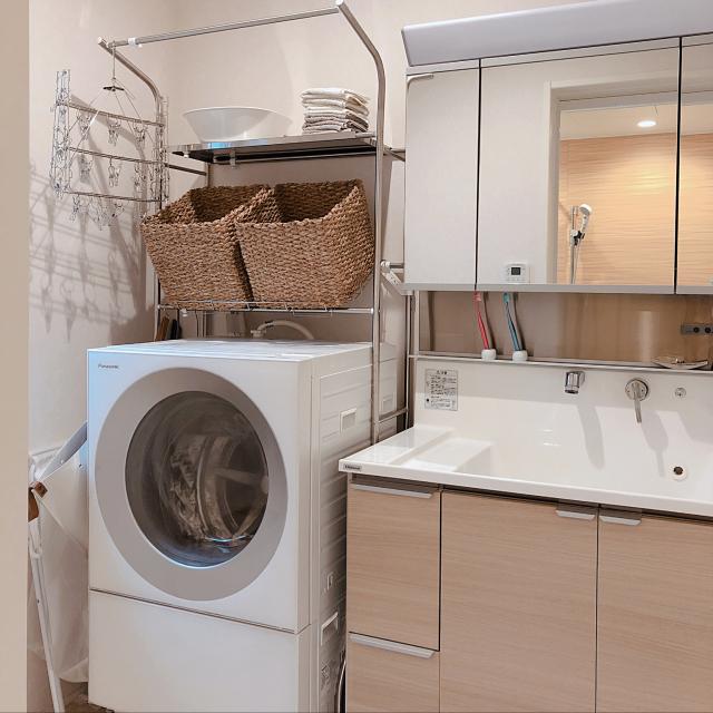 使って納得!空間が大変身するニトリの洗濯機ラック