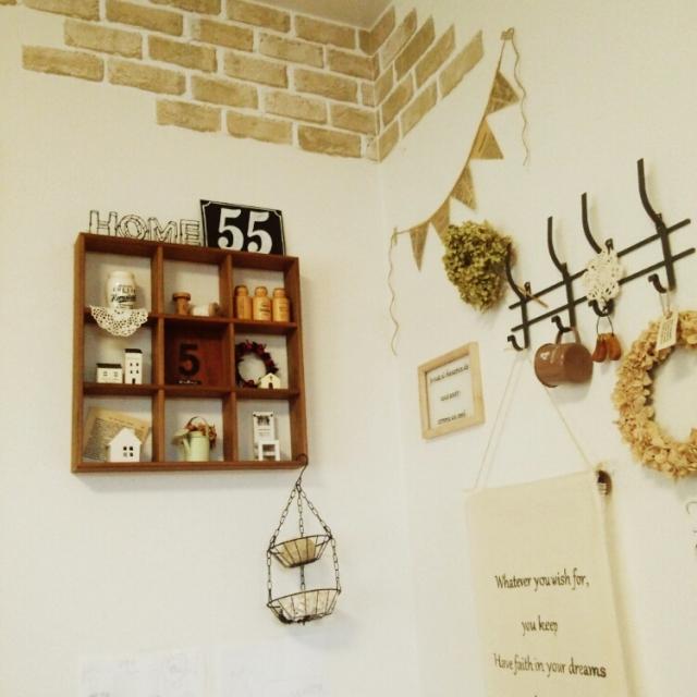 greencafeさんのレンガ壁