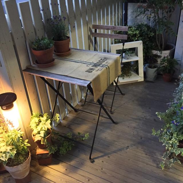 DIYフェンスでベランダガーデンを楽しむ(by leonaさん)