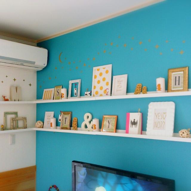 インテリアのポイントになる壁だけ色を変える