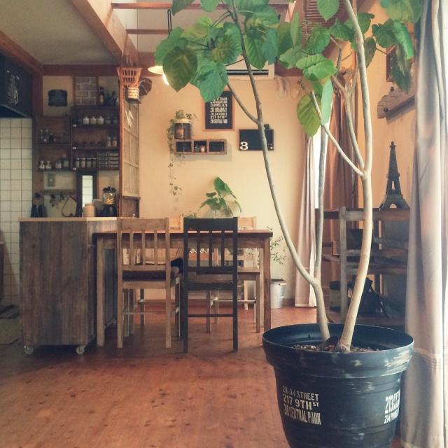 植木鉢にステンシルでデコレーション
