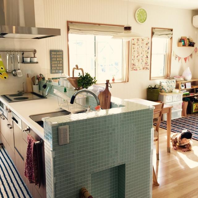 やっぱり憧れる♡キッチンタイル タイル別に見るキッチン実例集