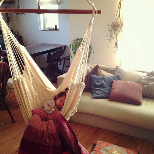 自然の揺れが睡魔を誘います。