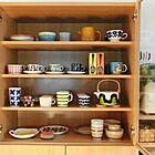 ARABIA(アラビア)の食器とマグカップで彩るインテリア写真