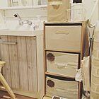 三段ボックス引き出しで収納力がアップ♪効果的な活用実例