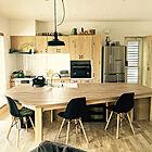 「充実の造作収納を使いこなす。優しくモダンなMen's natural空間」憧れのキッチン vol.53 0gat0m0さん