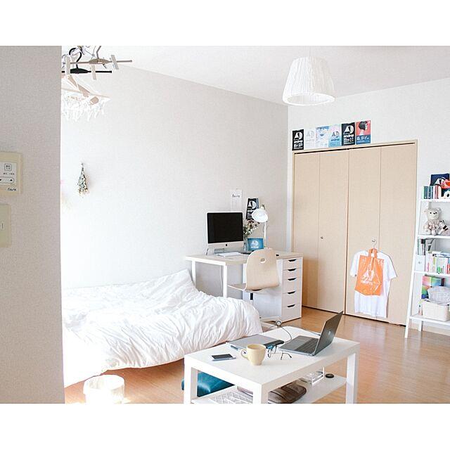 「34m2。ホワイト×ナチュラル+お気に入りで作る、しあわせなお部屋」 連載:ワンルーム1Kの暮らし by nemuiasaさん