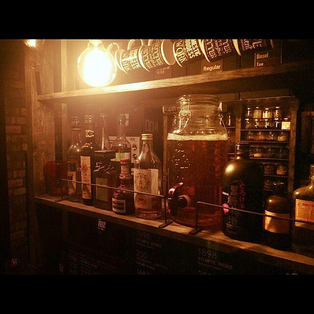 「気さくに雰囲気を楽しむ。辛口ビンテージな男前BARカウンター」憧れのキッチン vol.64 steampunkerさん