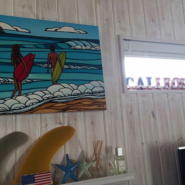 On Walls,RH,DIY,白が好き,海まですぐ,犬のいる暮らし,カリフォルニアスタイル,アメリカンハウス,ビーチハウス,真っ白なお家,湘南住民,サーファーズハウス,板張りの壁,エイジング加工,ヘザーブラウン R_u_m_iiの部屋