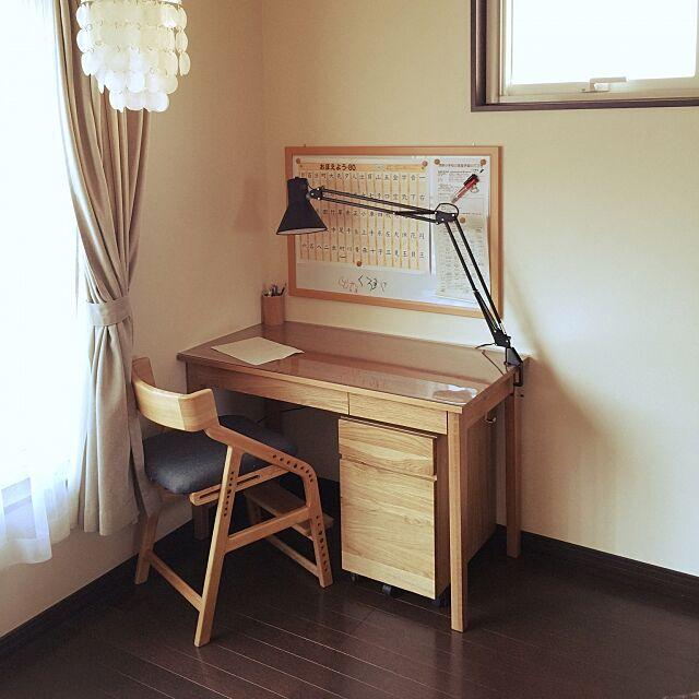 My Desk,子供が多い,無印良品,学習机 j0anjettsd0gsの部屋