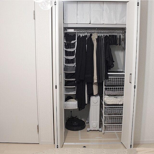 Bedroom,マジメに家pic,イケア,収納,寝室のクローゼット,クローゼットの中,クローゼット,ルンバ,before→after,収納見直し,整理整頓,クローゼット 収納,ルンバ基地,クローゼット整理,after,IKEA Macaroniの部屋