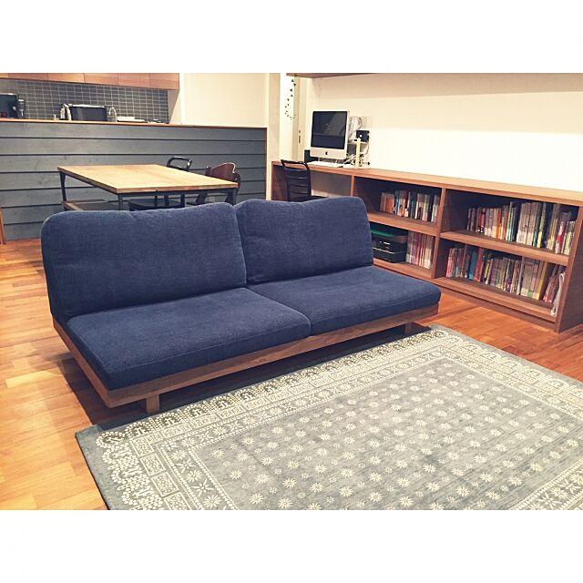Lounge,ジャーナルスタンダードファニチャー,ラグ,ソファー,masterwal,ダイニングテーブル,ベンチチェア,ノットアンティークス,リビングダイニング,journal standard Furniture,絵本と暮らす,絵本 mmtsの部屋