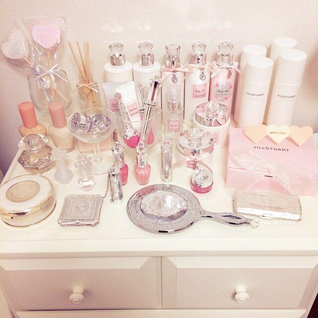 My Shelf,マイルーム,gelato pique,ジェラートピケ,化粧品,ジルスチュアート,JILL STUART,Francfranc chitoseの部屋