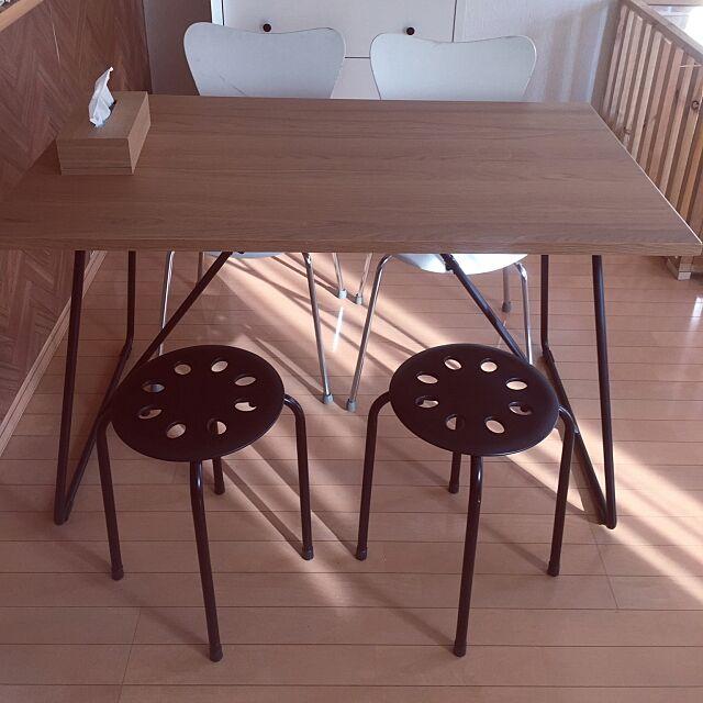 My Desk,椅子,IKEA,アイアンテーブル,オーク,ダイニングテーブル,無印良品,ミニマリスト,白木とモノトーン Hitomiの部屋