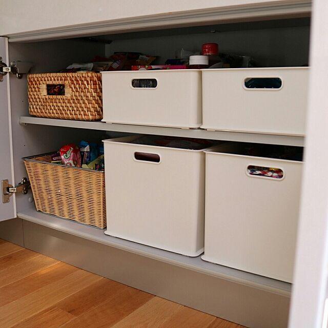 Kitchen,ニトリ,整理収納,無印良品,インボックス,おやつストック,ストック,パントリー,こどもと暮らす。 411.kaoriiiiの部屋