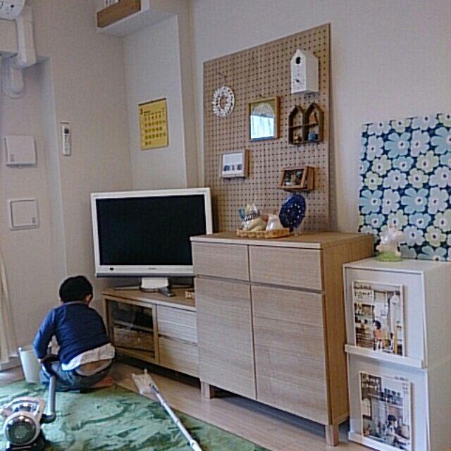 My Shelf,掃除男子,マリメッコ,salut!,無印の棚,無印良品,パンチングボード,Come home! haruの部屋