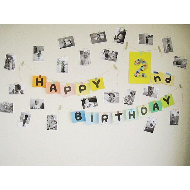 On Walls,誕生日飾りつけ,誕生日,誕生日飾り付け shima...の部屋