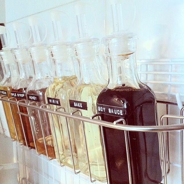 Kitchen,100均,調味料入れ,キッチングッズ,調味料瓶,調味料容器,調味料ラベル,調味料ボトル,調味料収納 usataro27の部屋