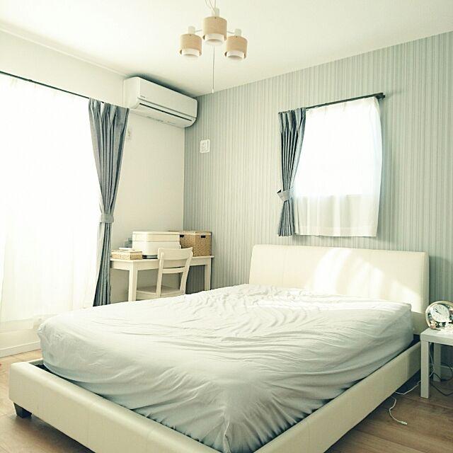 Bedroom,ニトリ,ニトリのカーテン,ニトリのベッド comiの部屋