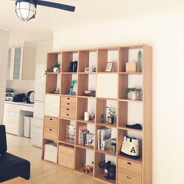 Lounge,無印良品,観葉植物,スタッキングシェルフ Boushiの部屋