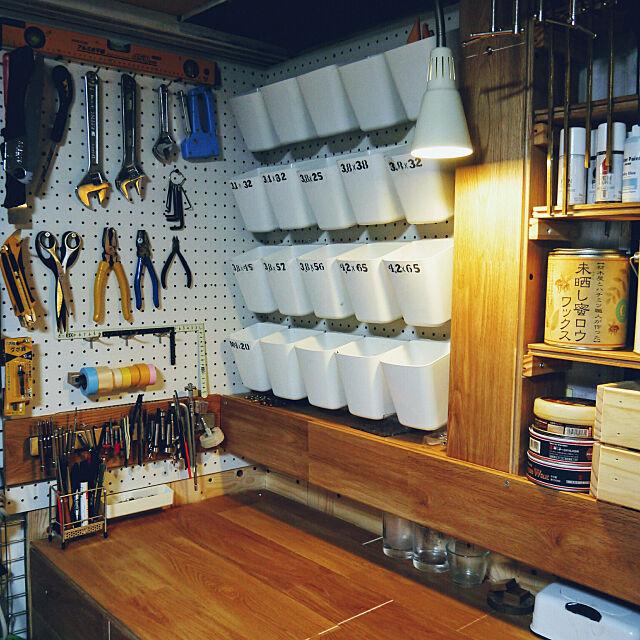 My Desk,木工,セルフリノベーション,DIY,IKEA,オーク,ハンドメイド,セルフリノベ,リノベーション,アウトドアインテリア,工房,作業机,作業台,小物,たなDIY beam_koharubiworkの部屋