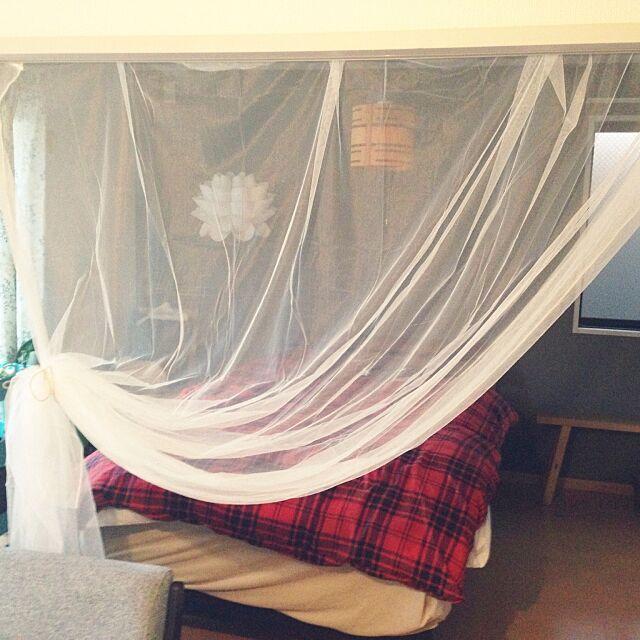 On Walls,賃貸,IKEA,北欧,一人暮らし,間仕切りに布 kuma165の部屋