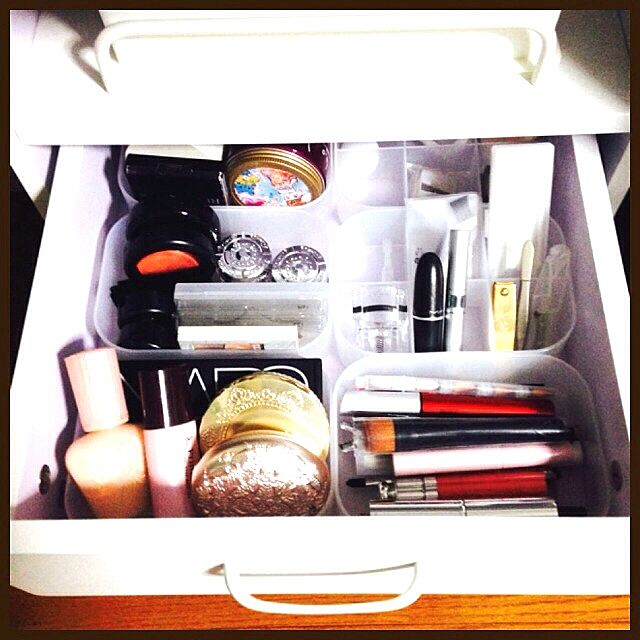 My Desk,コスメ収納,化粧品,ひとり暮らし,無印良品 hono.の部屋
