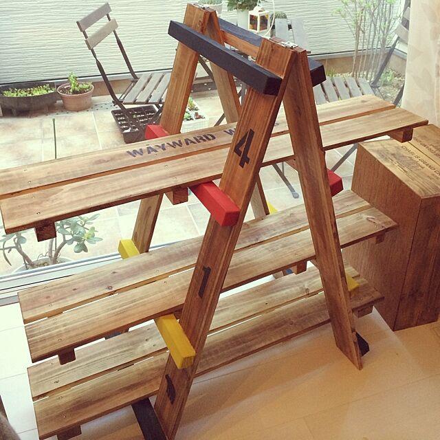 My Shelf,手作り,DIY,植物,多肉植物,すのこで棚,すのこDIY,ブライワックス shakikoの部屋