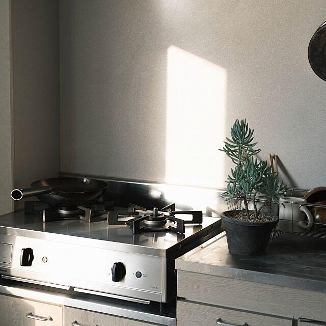 Kitchen,賃貸キッチン,Vamo.,リンナイ,一人暮らし,賃貸,フライパン,鉄フライパン,メンズ部屋 yasuakiの部屋