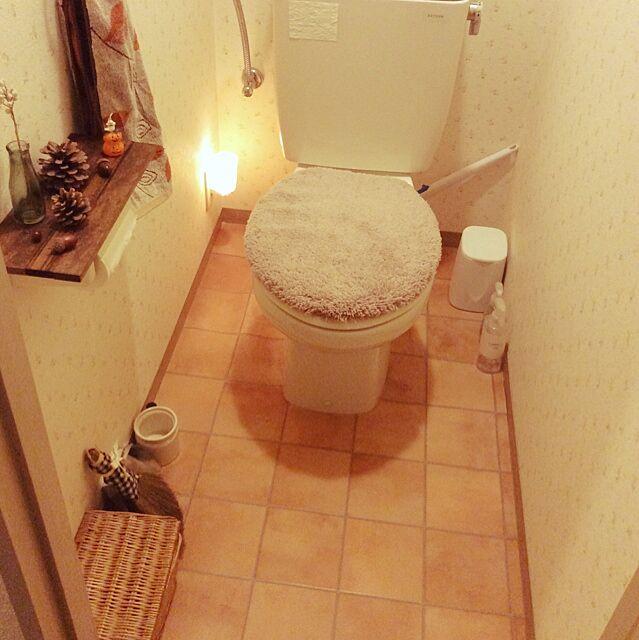 Bathroom,賃貸,壁紙屋本舗,DIY,ナチュラルキッチン,トイレ ricchaの部屋