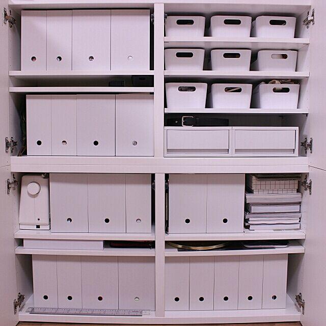 無印良品,収納,IKEA,ホワイトインテリア,NO WHITE NO LIFE,ポリプロピレンファイルボックス,ポリプロピレンケース 引出式 浅型,My Shelf erixonの部屋