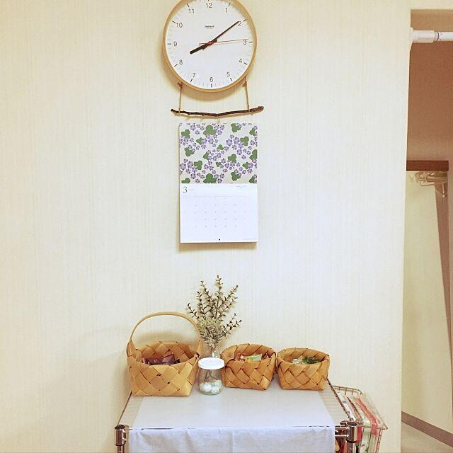 Kitchen,フェイクグリーン,賃貸,セリア,100均,北欧テイストの部屋づくりの付録カレンダー,北欧 ruri22の部屋