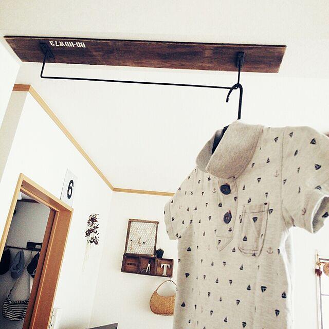 Bedroom,セリア,洗濯物干し,ハンガーかけ towanの部屋