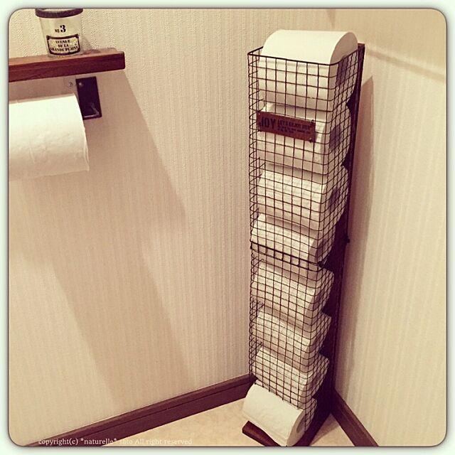 Bathroom,トイレットペーパー,DIY,100均BBQ網,トイレットペーパー収納 satoの部屋