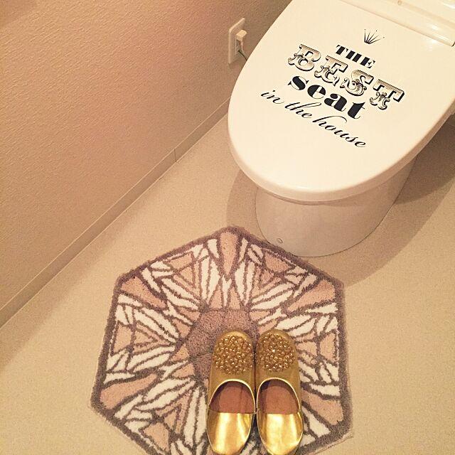 Bathroom,トイレ,ステッカー,トイレマット,バブーシュ,フランフラン,ゴールド,ゴールドが好き Merrydayの部屋