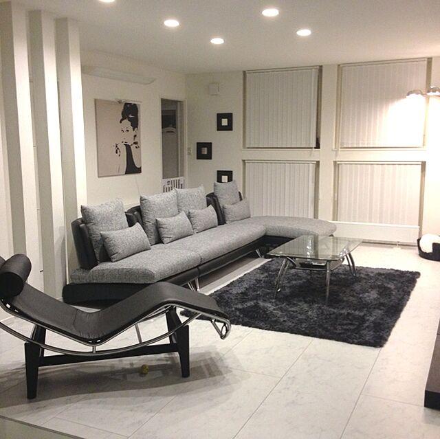 Lounge,リビング 全体,モノトーン,シンプルモダン YUKIの部屋