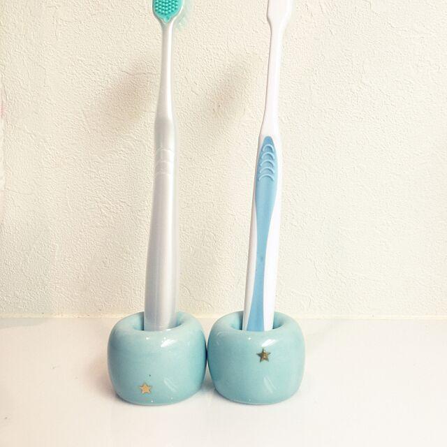 Bathroom,無印良品,歯ブラシスタンド,歯ブラシ立て,星 bluestarshowの部屋