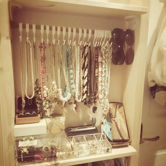 My Shelf,ディアウォール,つっぱり棒,アクセサリー収納,ハワイ大好き uka1106の部屋