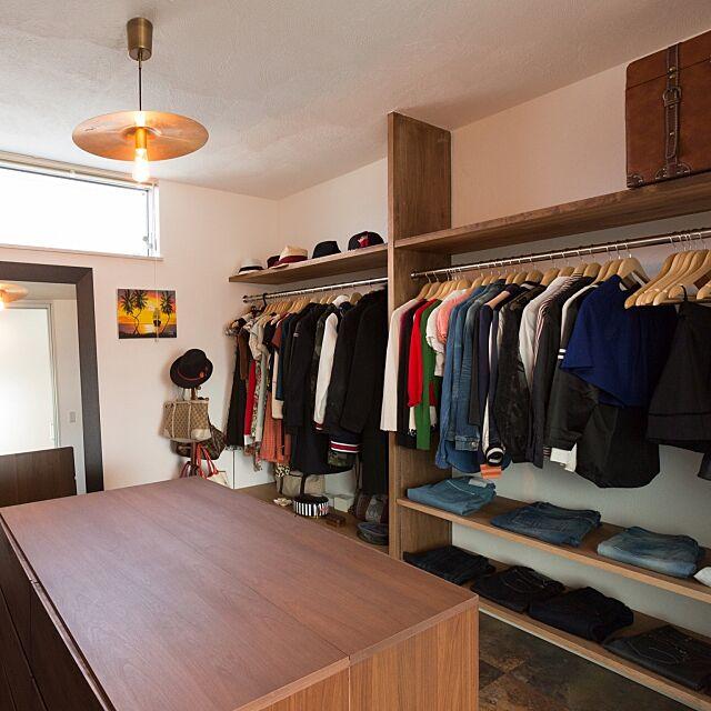 Bedroom,姿見,造り付け棚,6畳サイズ,シンバルの照明,拘り空間,アパレルショップ風,ウォークインクローゼット,RoomClip mag 掲載,驚きの5回め!ありがとうございます♡ tatokamiの部屋