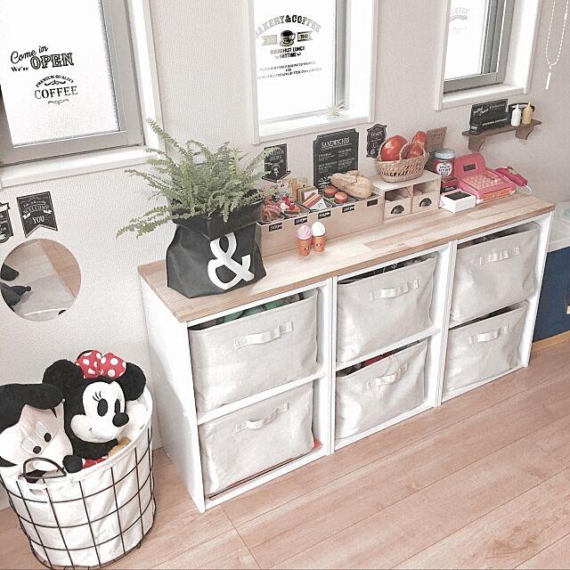 My Shelf,おもちゃ収納,みどりのある暮らし,いいね!フォローありがとうございます☺︎,ニトリのかご,無印良品のソフトボックス,カラーボックス,200いいね!ありがとうございます xoxoの部屋