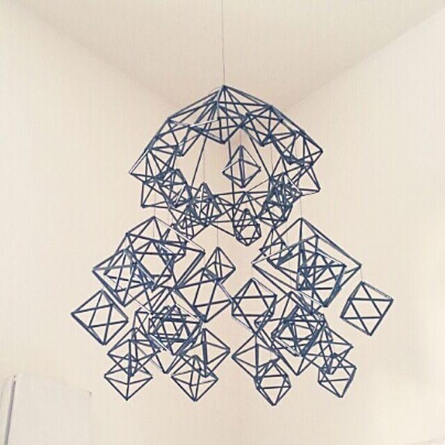 On Walls,DIY,雑貨,手作り,手芸,ストロー,ストローヒンメリ,ヒンメリ,dangling@no-limits Misuzuの部屋