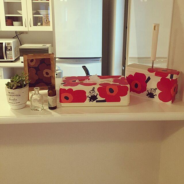 Kitchen,小瓶,マリメッコデコパージュ,北欧,多肉植物,マリメッコ takakoの部屋