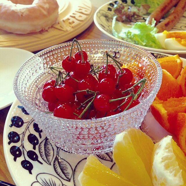 Kitchen,パラティッシ,アラビア,イッタラ カステヘルミ,フルーツ,くだもの,オレンジ,小夏,さくらんぼ sherry314の部屋
