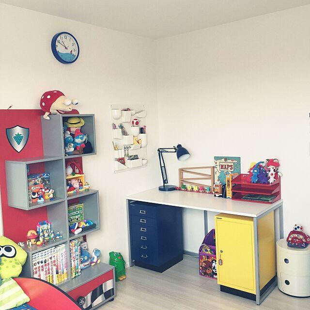 My Desk,コンポニビリ,ウーテンシロ2,ニトリの時計,ビスレー,初投稿,子ども部屋,チレキ mikinokoの部屋