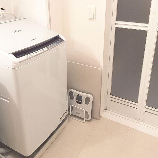Bathroom,賃貸でも楽しく♪,珪藻土バスマット,体重計,ニトリ,シンプル,賃貸 c-chan24の部屋